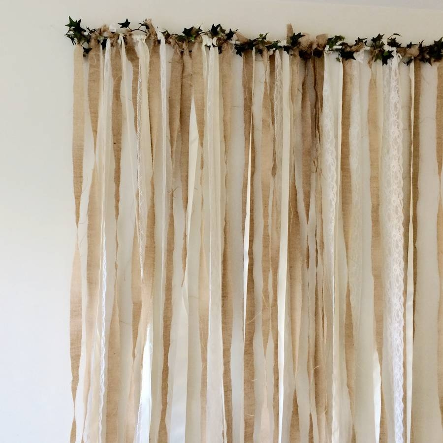 Hessian And Lace Wedding Backdrop Just Add A Dress Within Hessian Curtains (Image 11 of 15)