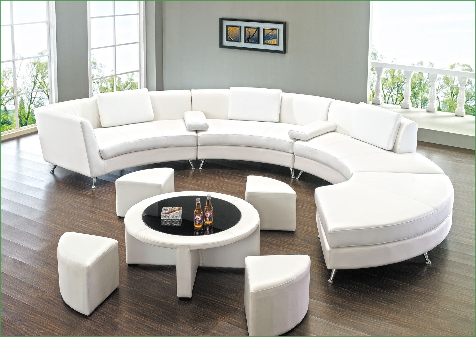 Hg Ar Home Custom Upholstery Large L Shaped Sectional Round In 45 Degree Sectional Sofa (Image 7 of 15)