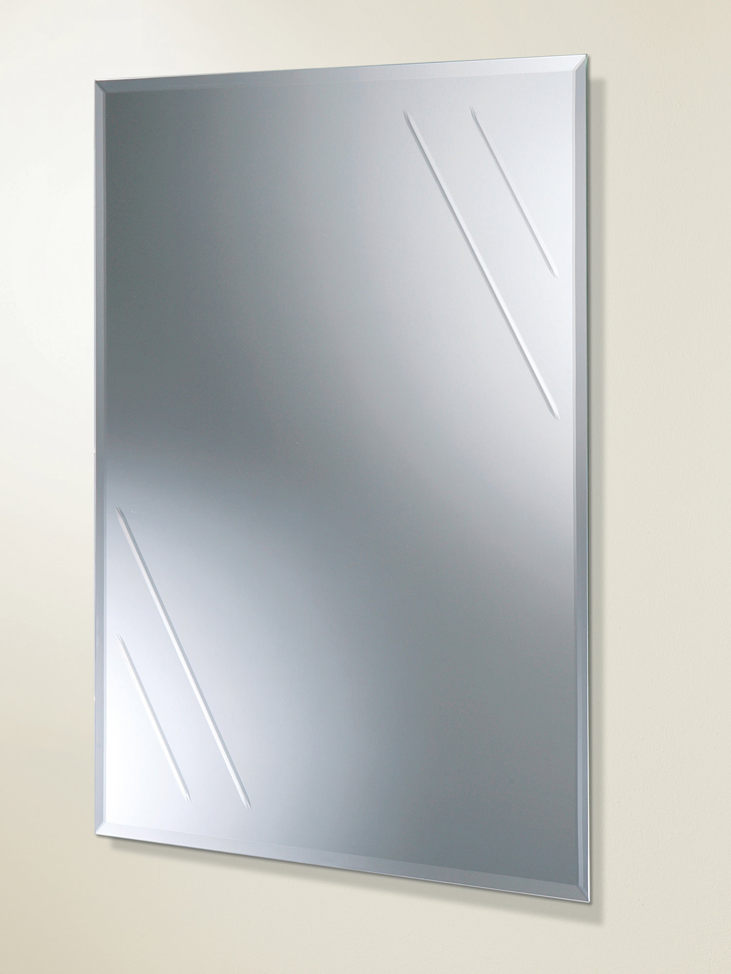 Hib Albina Rectangular Bevelled Edge Bathroom Mirror 61164100 For Mirror Bevelled Edge (Image 6 of 15)