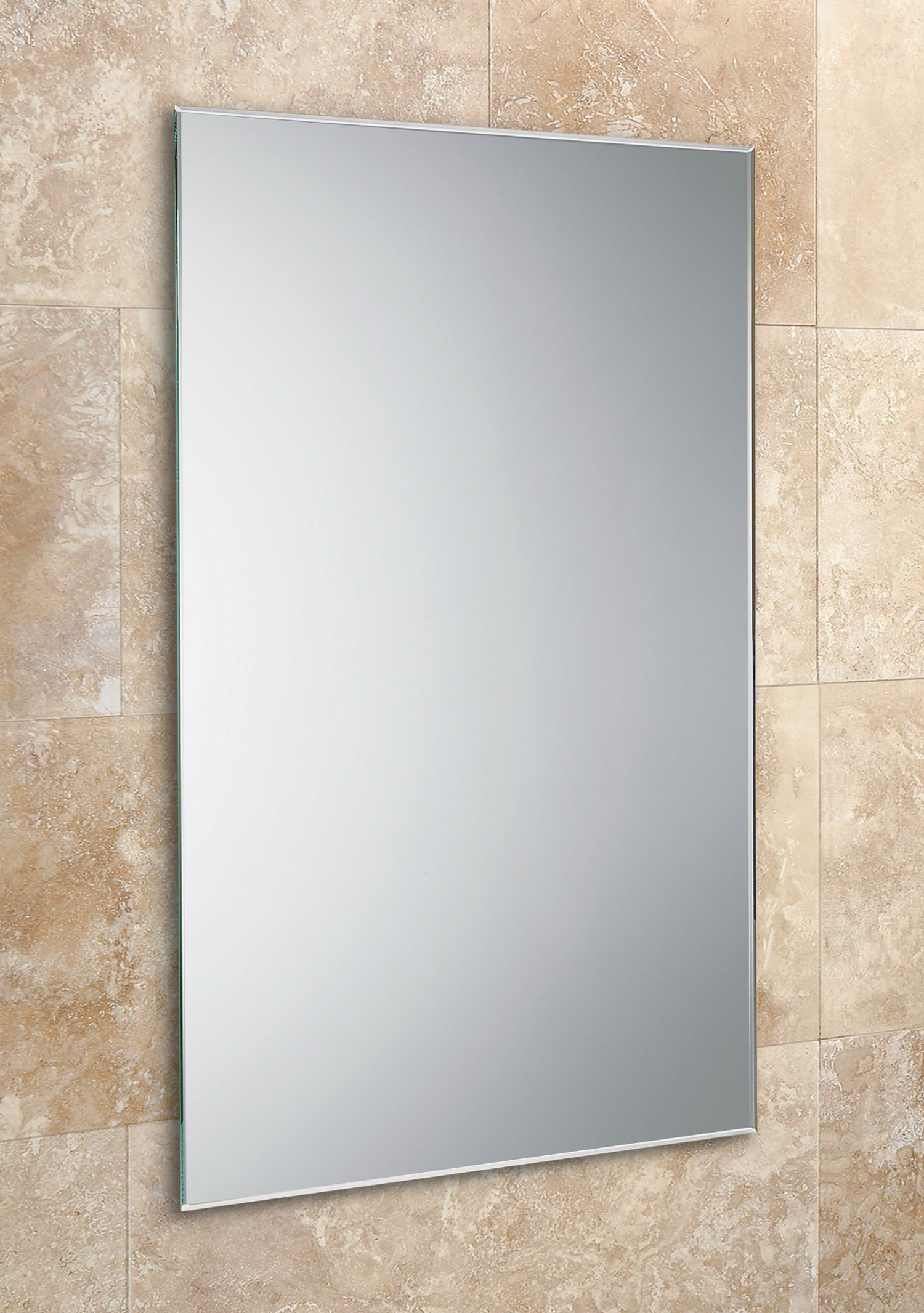 Hib Johnson Rectangular Mirror With Bevelled Edges 400 X 600mm Throughout Bevelled Bathroom Mirror (Image 9 of 15)