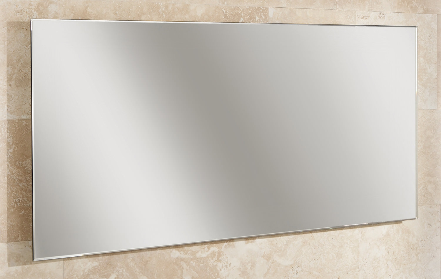 Hib Willow Landscape Bevelled Edge Mirror 1200 X 600mm 77305000 With Mirror Bevelled Edge (Image 10 of 15)