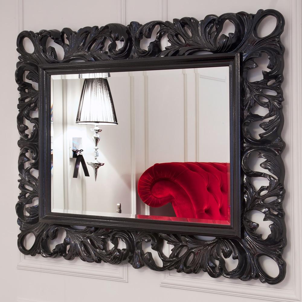 Featured Image of Black Rococo Mirror