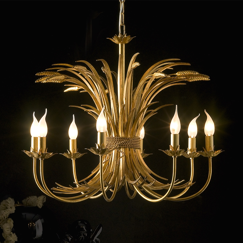 High End Handmade Italian Gold Leaf Chandelier Juliettes For Gold Leaf Chandelier (Image 12 of 15)