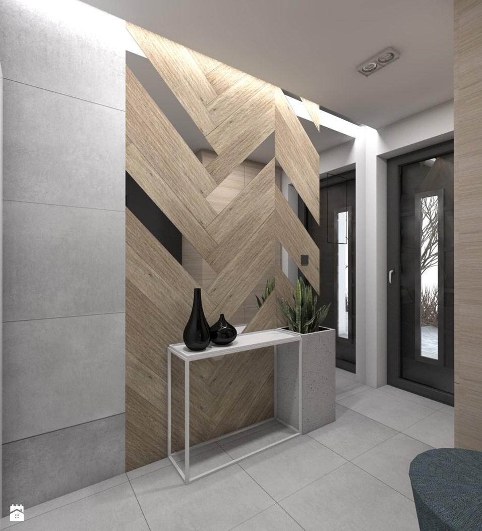 Hol Przedpokj Styl Nowoczesny Zdjcie Od Bagua Pracownia Pertaining To Feature Wall Mirrors (View 10 of 15)