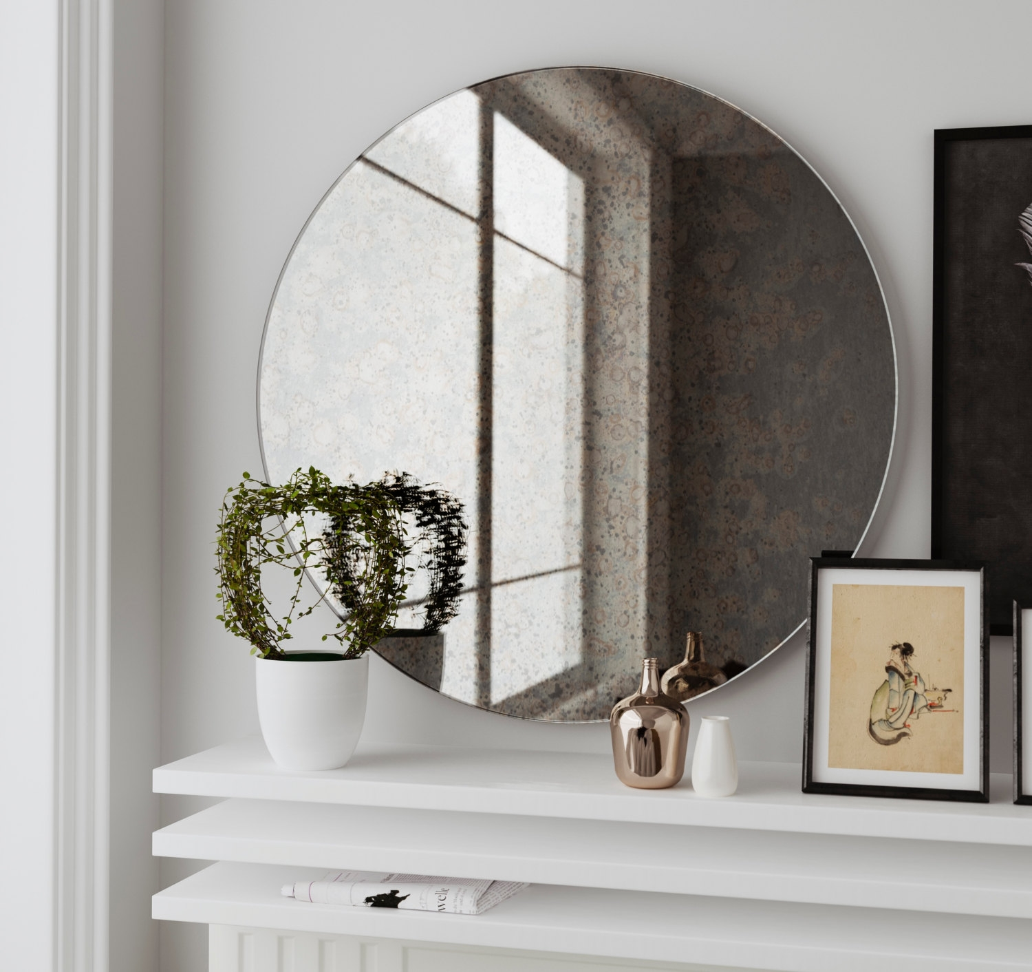 Hollywood Mirror Etsy Throughout Antique Frameless Mirror (View 8 of 15)