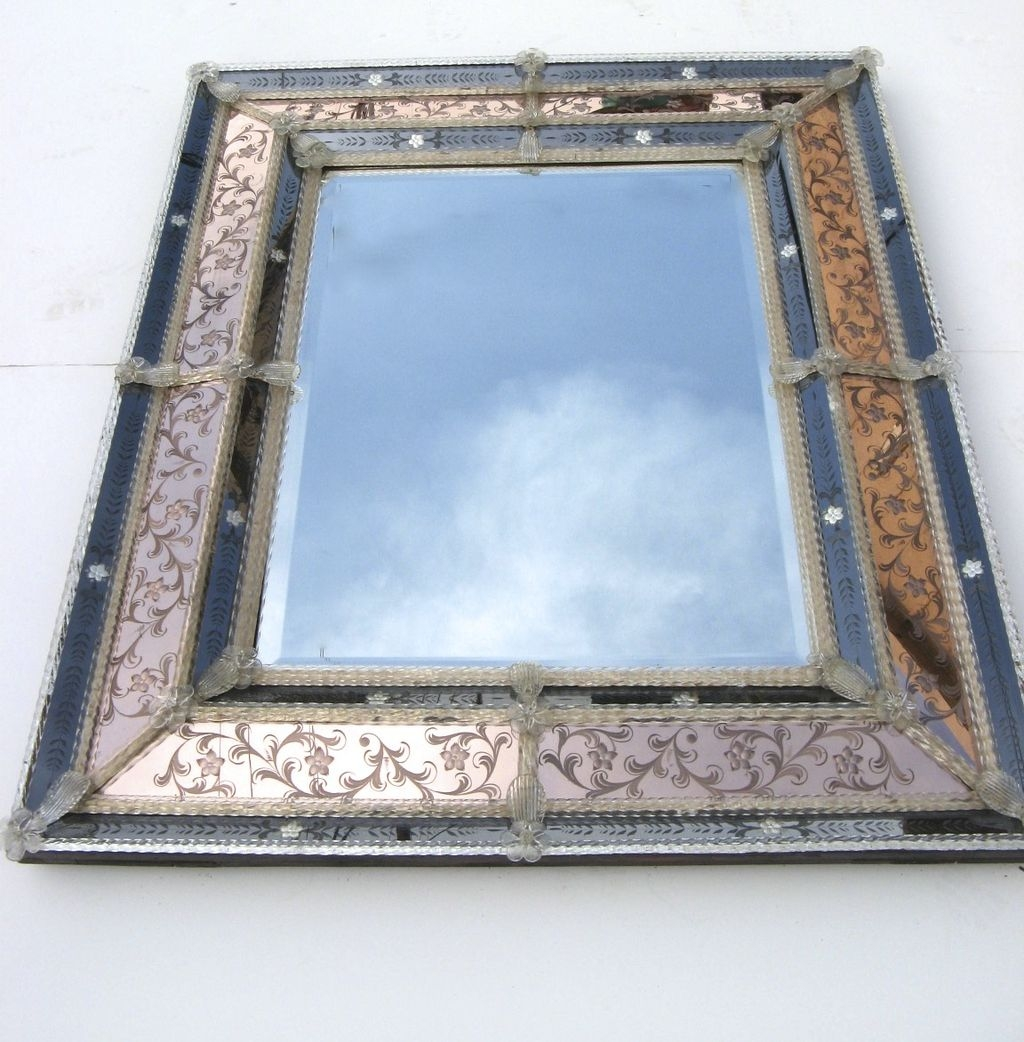 Hollywood Regency Venetian Mirror From Blacktulip On Ru Lane For Venetian Glass Mirrors Antique (Image 14 of 15)
