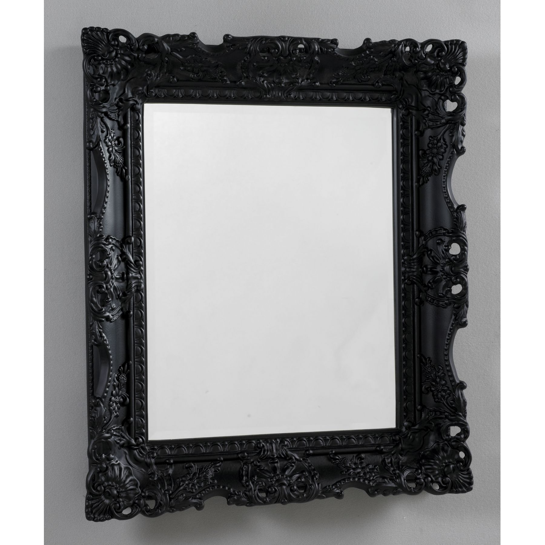 Home Decor Antique French Black Mirror Black Mirror Home Decor With Regard To Black Vintage Mirror (Image 5 of 15)