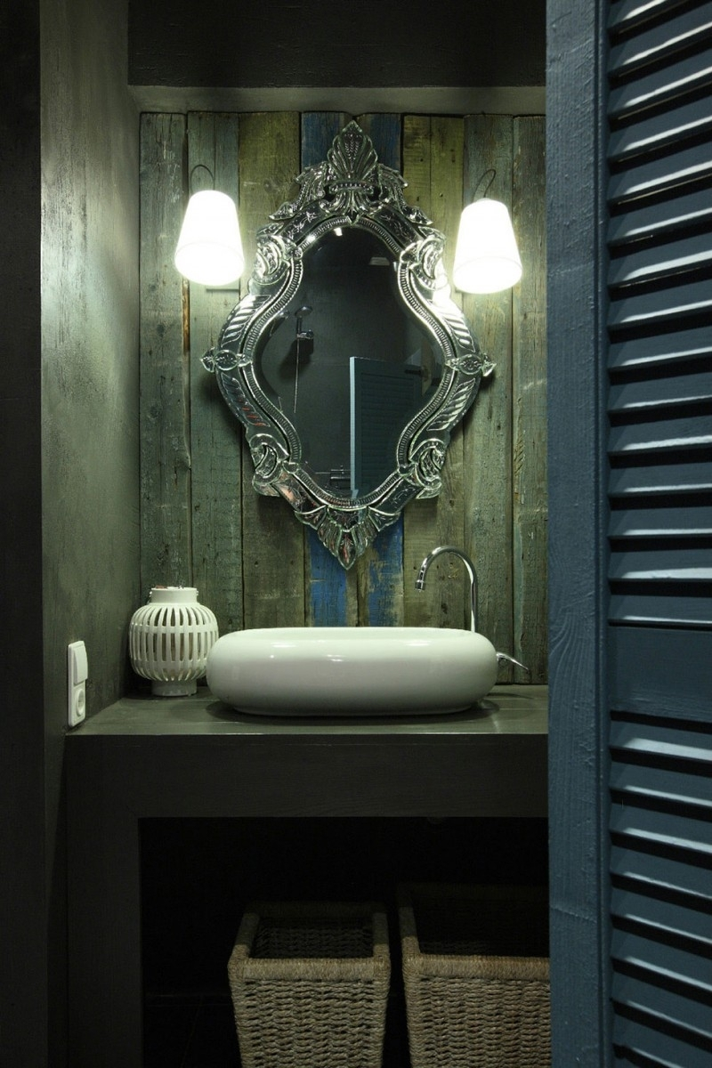 Home Decor Vintage Style Bathroom Mirrors Farmhouse Sink For Regarding Vintage Style Bathroom Mirrors (Image 6 of 15)