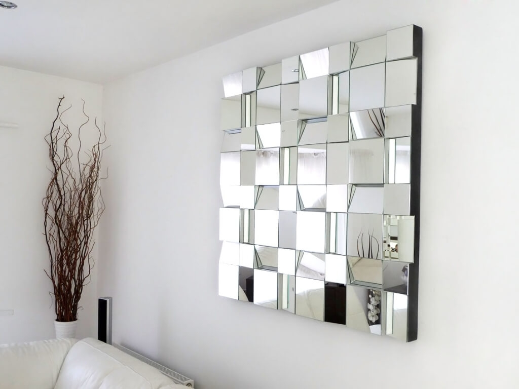 Home Decoration Art Deco Compact Mirror With Scattered Mirror Art With Regard To Contempory Mirrors (Image 9 of 15)