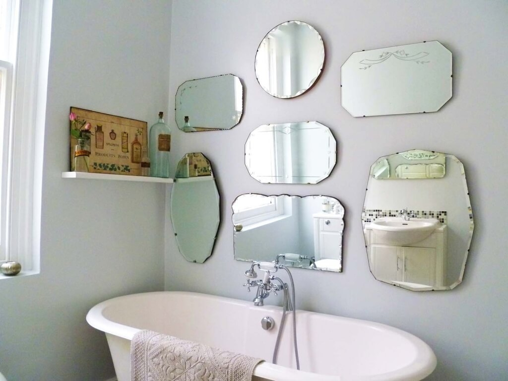Home Decoration Astounding Frameless Antique Mirrors With Pertaining To Small Antique Mirror (Image 9 of 15)