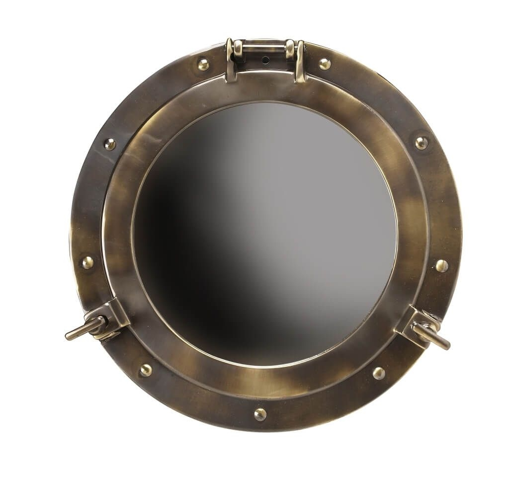 Home Decoration Best Rustic Porthole Mirror Decorative Porthole Regarding Porthole Style Mirrors (Image 6 of 15)