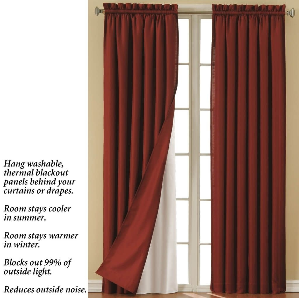 Home Decoration Cool Pole Top Blackout Curtain Liner Best Regarding Blackout Lining Fabric For Curtains (Image 8 of 15)