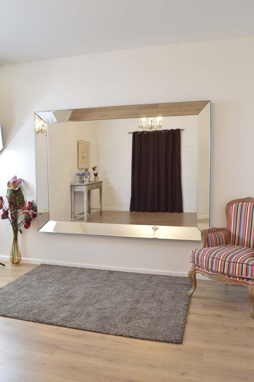 Home Decoration Enchanting Cheap Frameless Mirror And Wall Mirror With Regard To Frameless Large Wall Mirror (Image 8 of 15)
