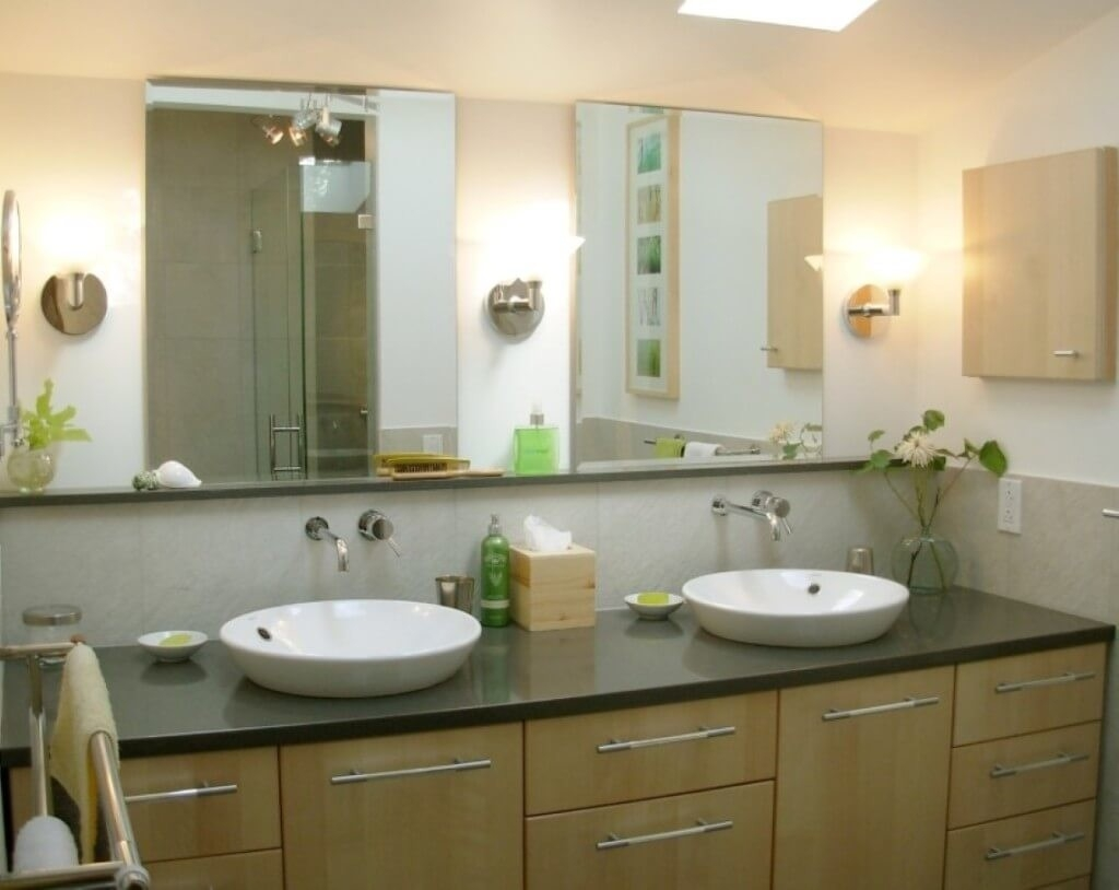 Home Decoration Fancy Double Frameless Bathroom Mirrors With Pertaining To Large Frameless Bathroom Mirror (View 15 of 15)