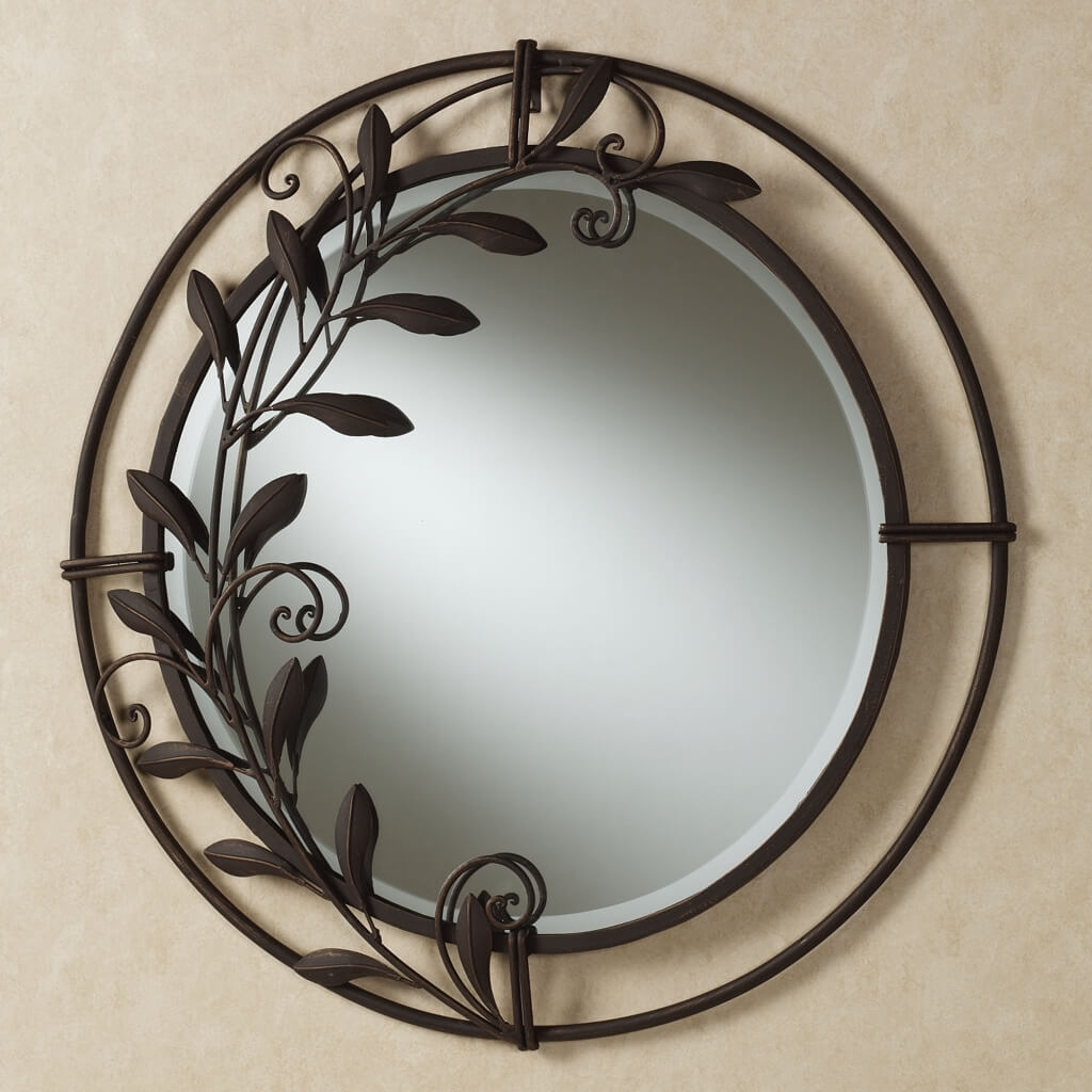 Home Decoration Interesting Round Decorative Wall Mirror And Wall Inside Unusual Round Mirrors (Image 9 of 15)