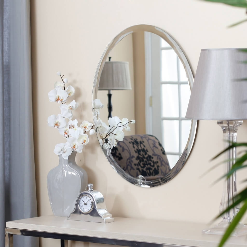 Home Decoration Make Your Room Look Sleek And Trendy With Within Vintage Frameless Mirror (Image 8 of 15)