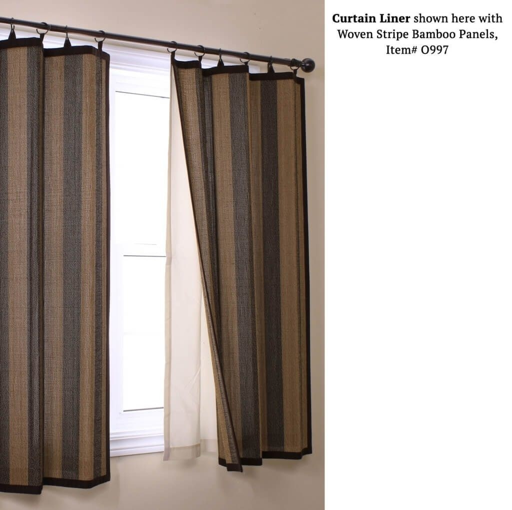 Home Decoration Perfect Blackout Curtain Liner For Woven Bamboo Within White Curtains With Blackout Lining (Image 4 of 15)
