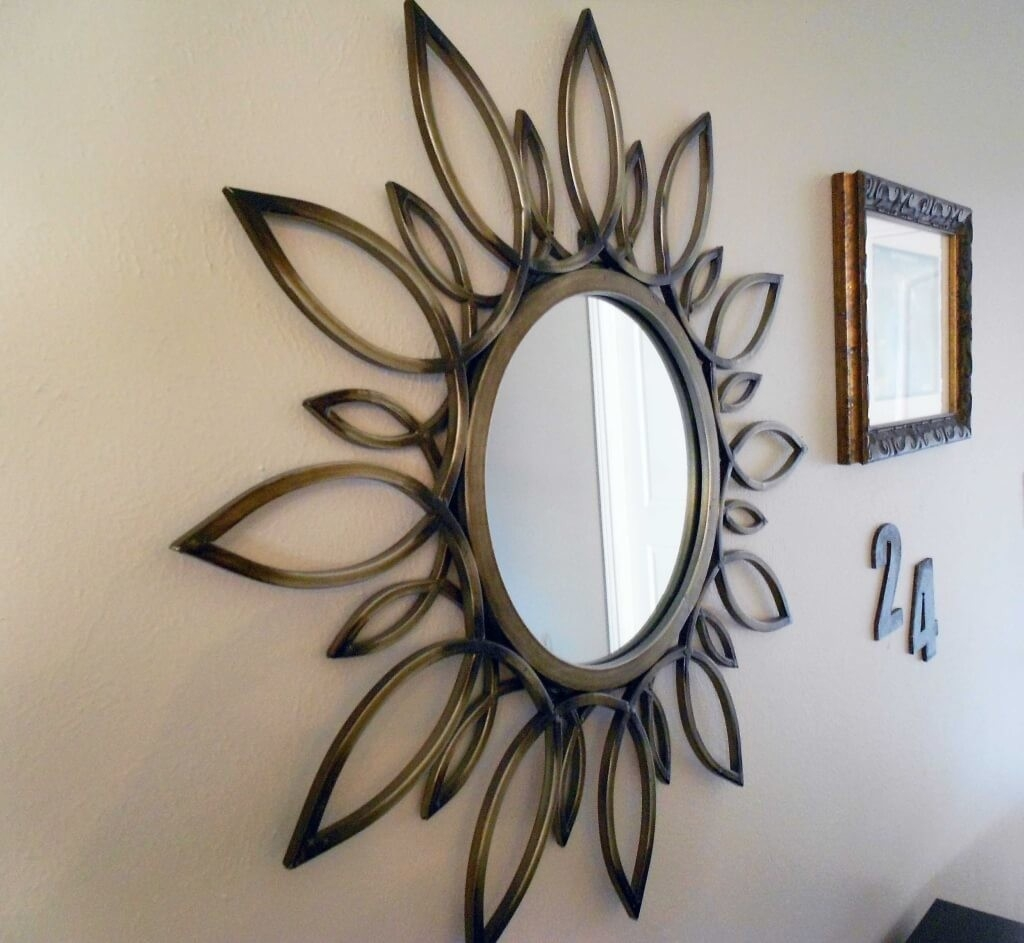 Home Decoration Superb Mirror Wall Decoration With Round Wall In Small Decorative Mirrors Cheap (Image 9 of 15)