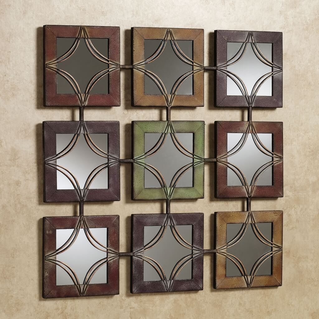 Home Decoration Vintage Wall Decor Mirrors With Decorative Wooden Inside Small Decorative Mirror (Image 6 of 15)