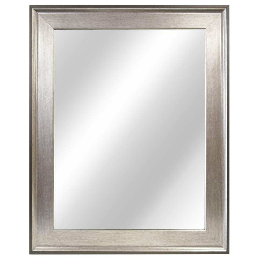 Home Decorators Collection 2335 In W X 2935 In L Framed Fog With Chrome Framed Mirror (Image 11 of 15)