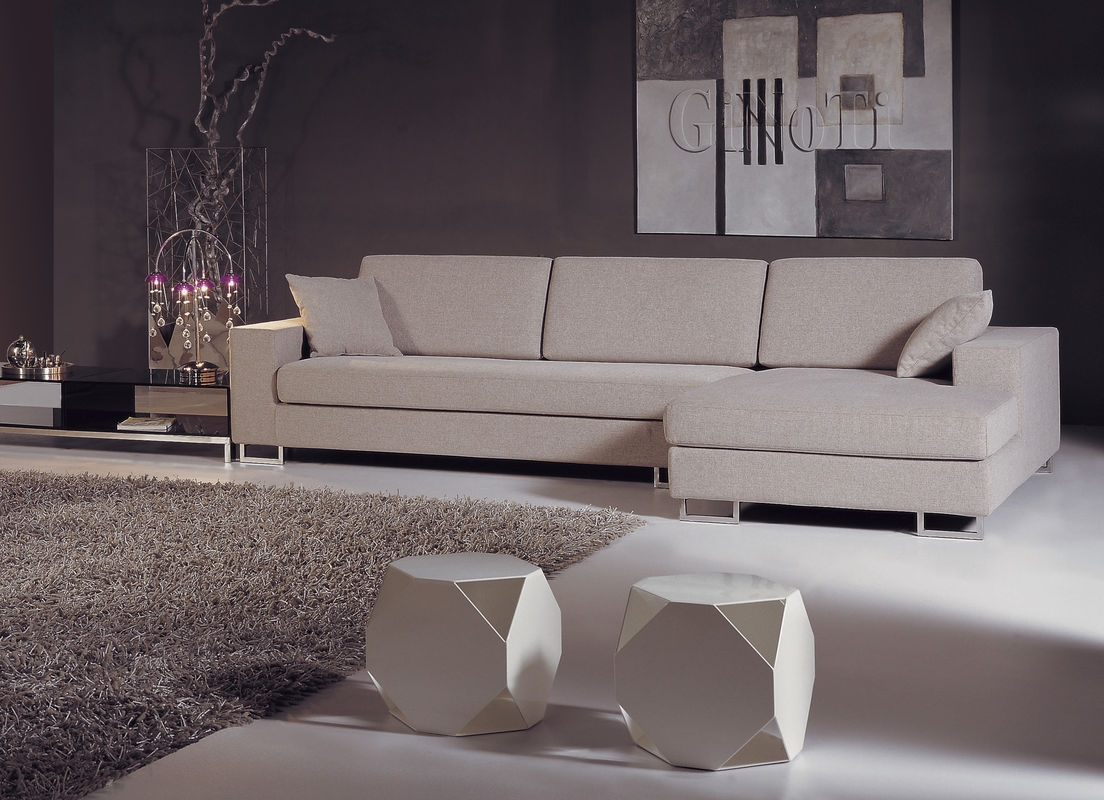 Home Element White Modern Fabric Sofas 1 3 Seater Elegant Fabric Intended For Elegant Fabric Sofas (Image 13 of 15)