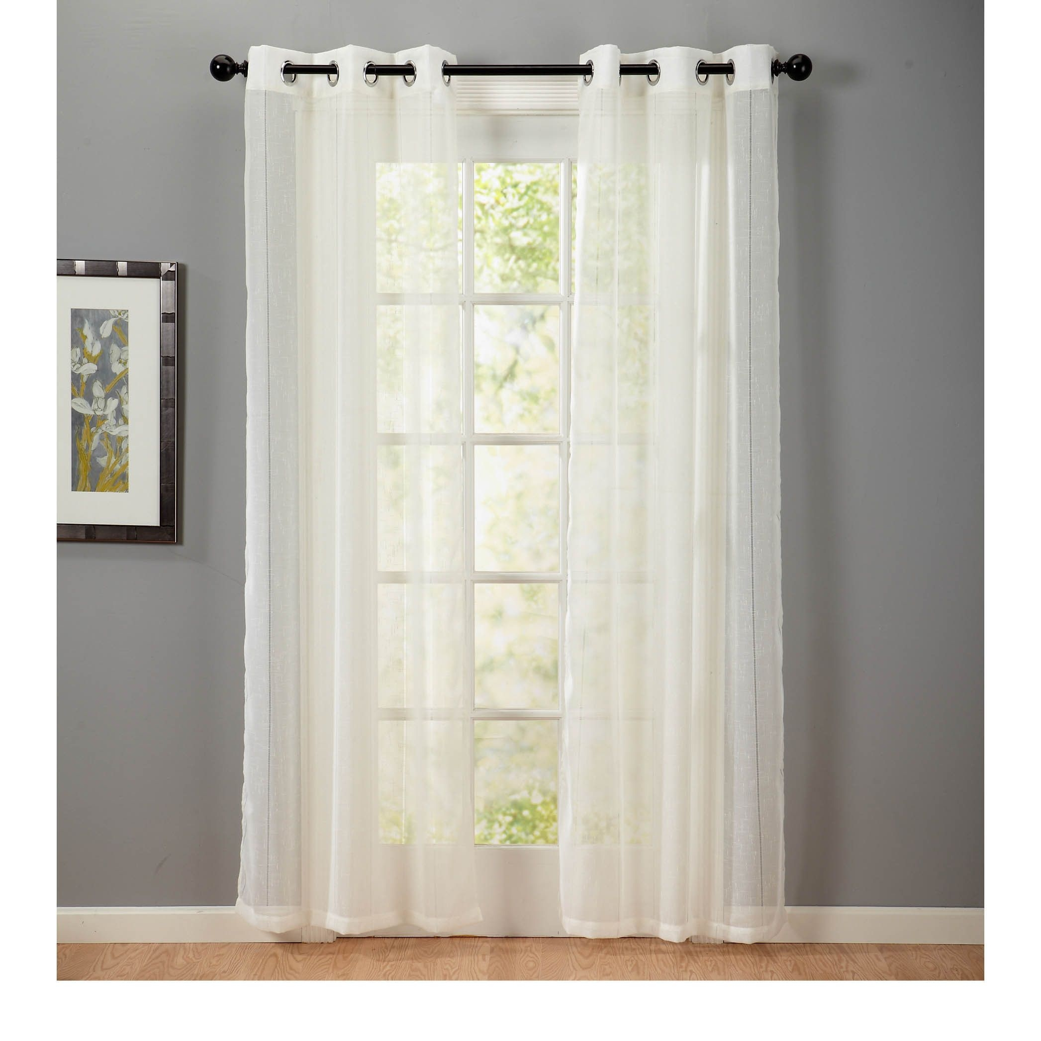 Home Fashion Designs Katherine Collection Textured Linen Grommet Regarding Textured Linen Curtains (Image 6 of 15)