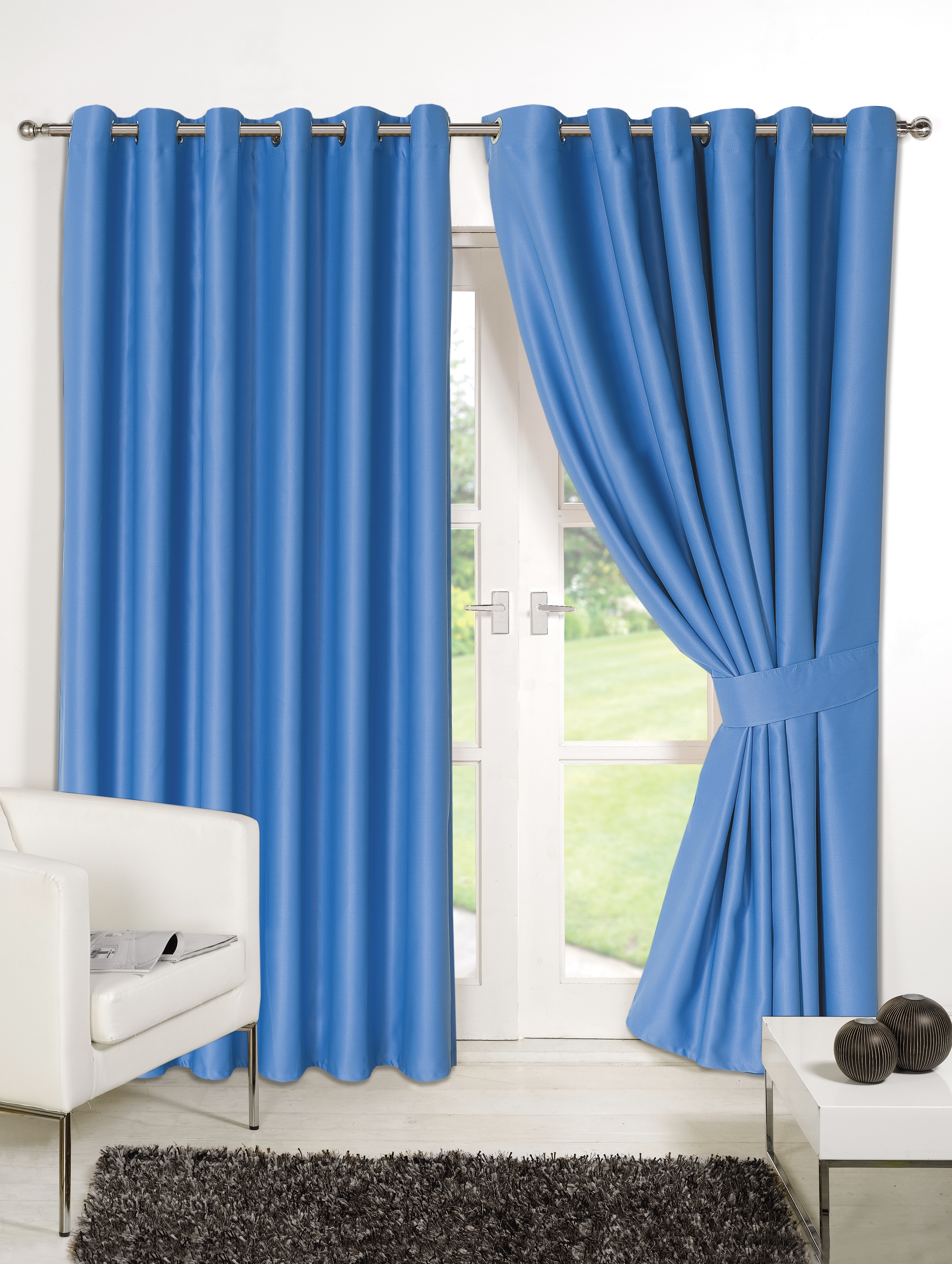 Home Furnishings Curtains Luxury Eyelet Blackout Curtains With Blue Blackout Curtains Eyelet (Image 9 of 15)