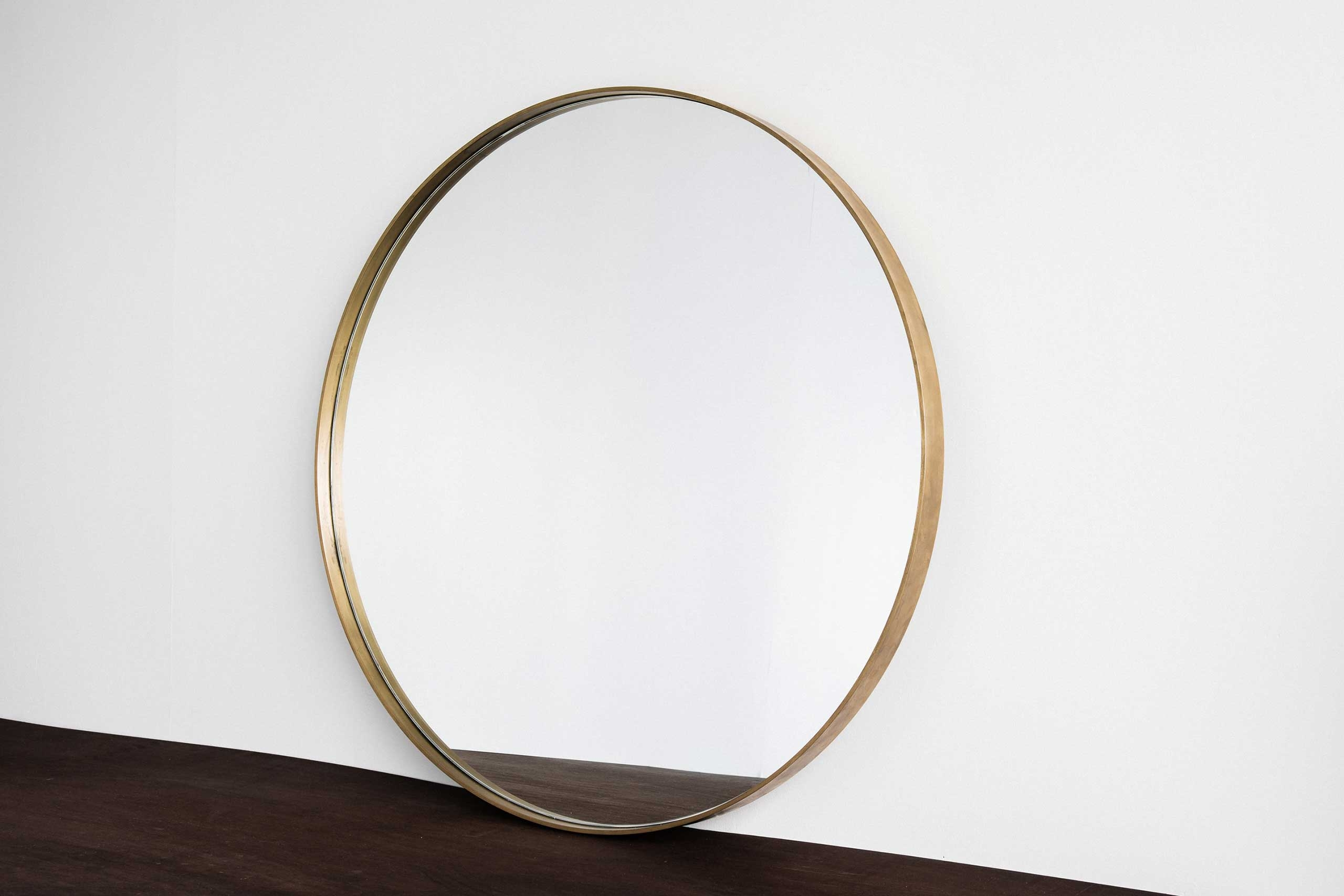 Home Industry Furniture Designed Handcrafted In New Zealand 2016 Pertaining To Round Mirror Large (Image 3 of 15)