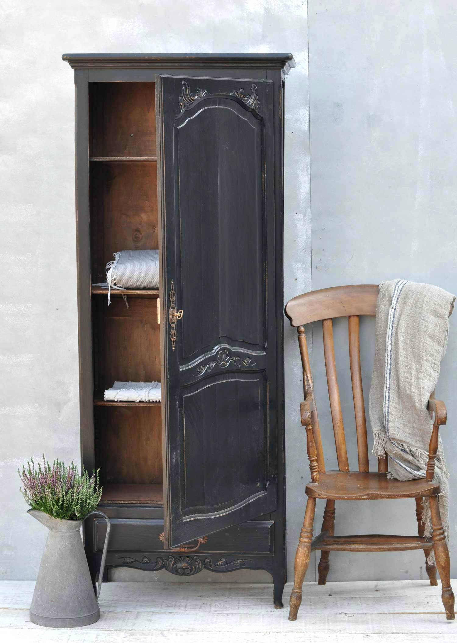 Home Office Armoire Single Antique French Style Wardrobe Amish Throughout French Style Mirrors Cheap (Image 10 of 15)