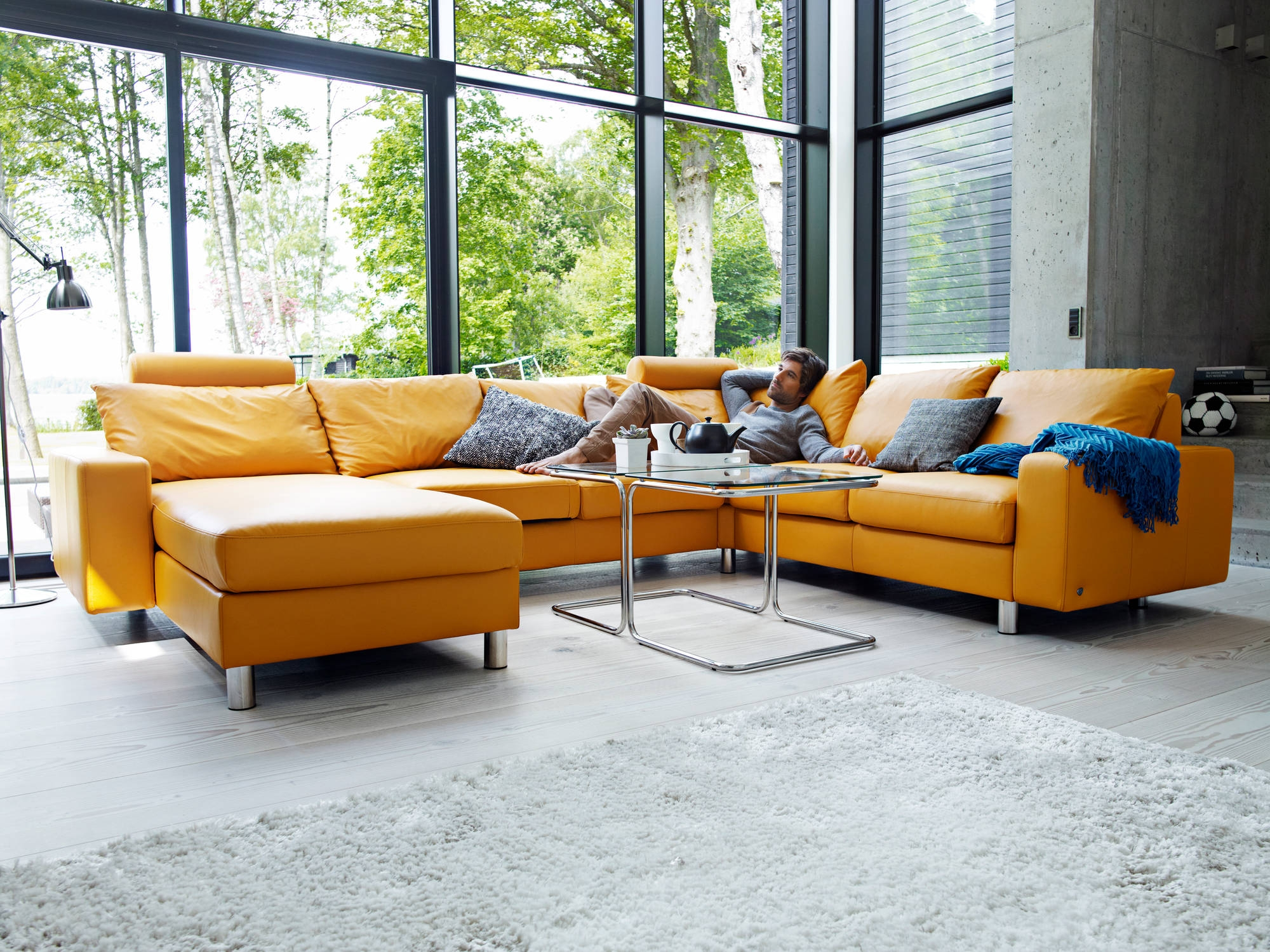 Home Theater Seating And Sectionals Stressless Unwind In Ekornes Sectional Sofa (Image 11 of 15)