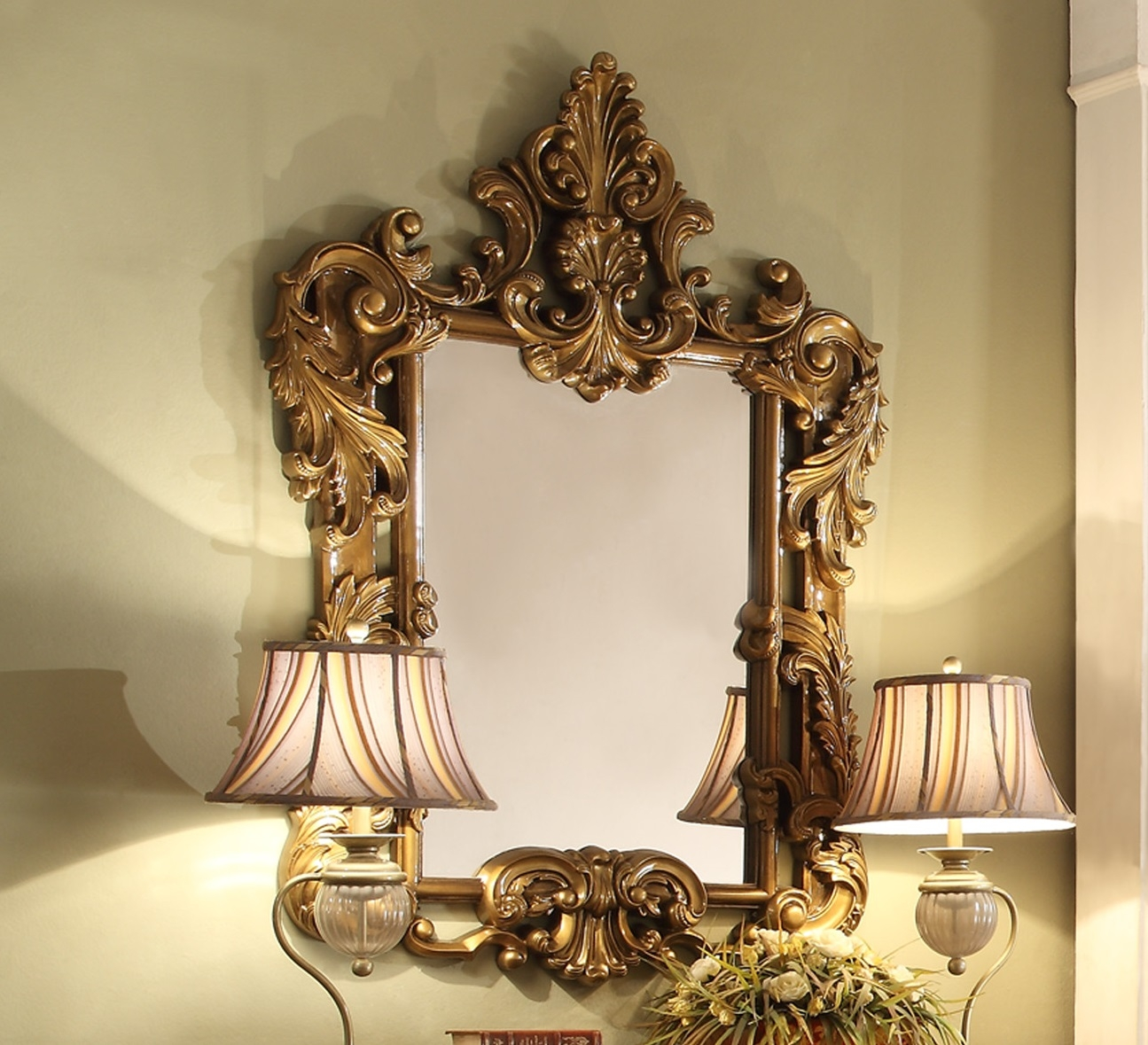 Homey Design Hd 8008 Victorian Palace Mirror Intended For Victorian Mirrors For Sale (Image 8 of 15)