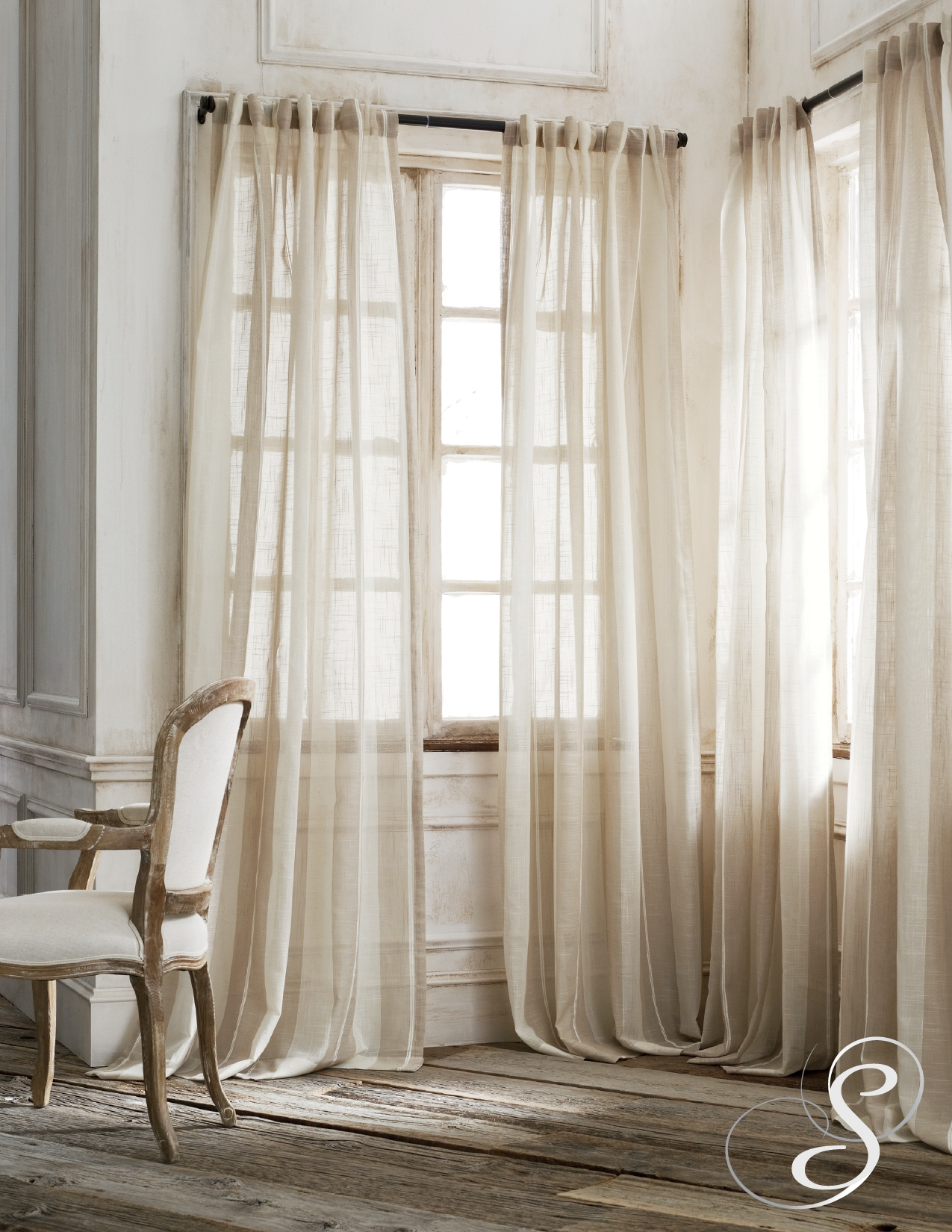 Homey Sheer Curtains For Front Door Windows And Sheer Curtain Within Linen Gauze Curtains (Image 7 of 15)