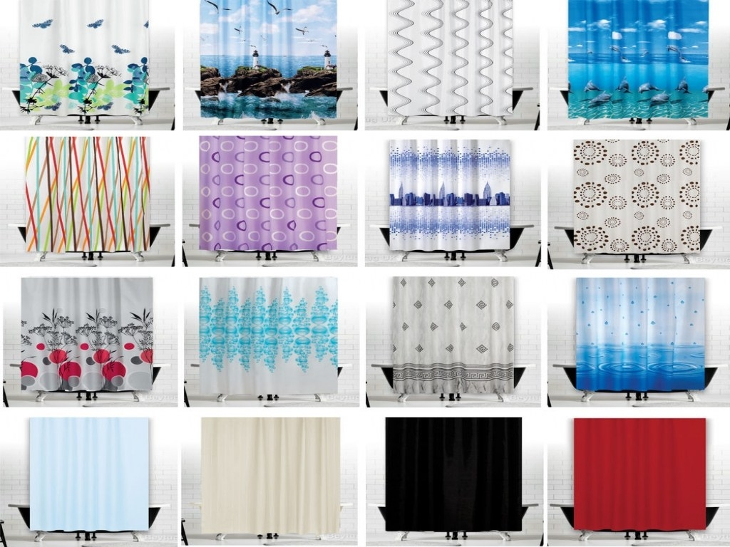 Hookless Extra Wide Shower Curtain Intended For Extra Wide And Long Curtains (Image 10 of 15)