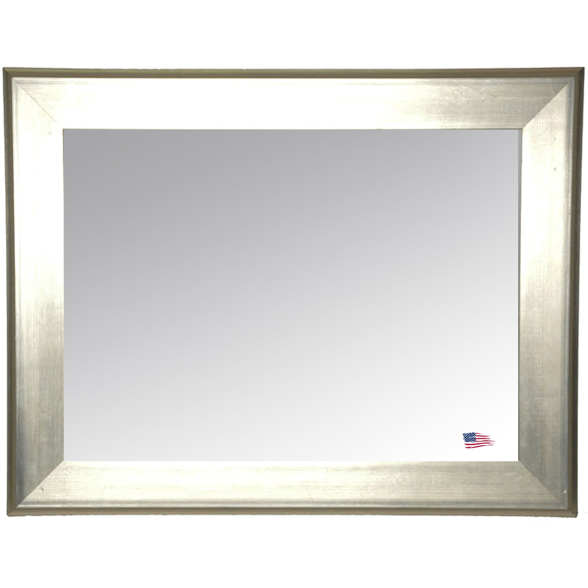 House Of Hampton Rectangle Antique Silver Wall Mirror Reviews Throughout Rectangular Silver Mirror (Image 5 of 15)