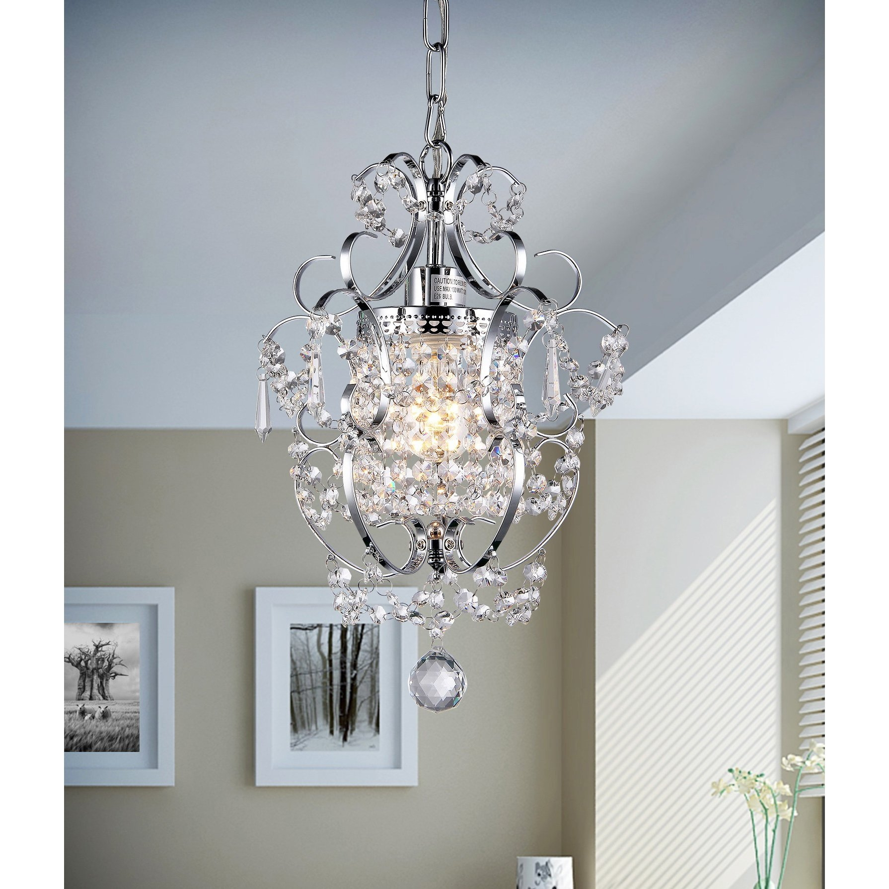 House Of Hampton Renee 1 Light Crystal Chandelier Reviews Wayfair Intended For 3 Tier Crystal Chandelier (Image 10 of 15)