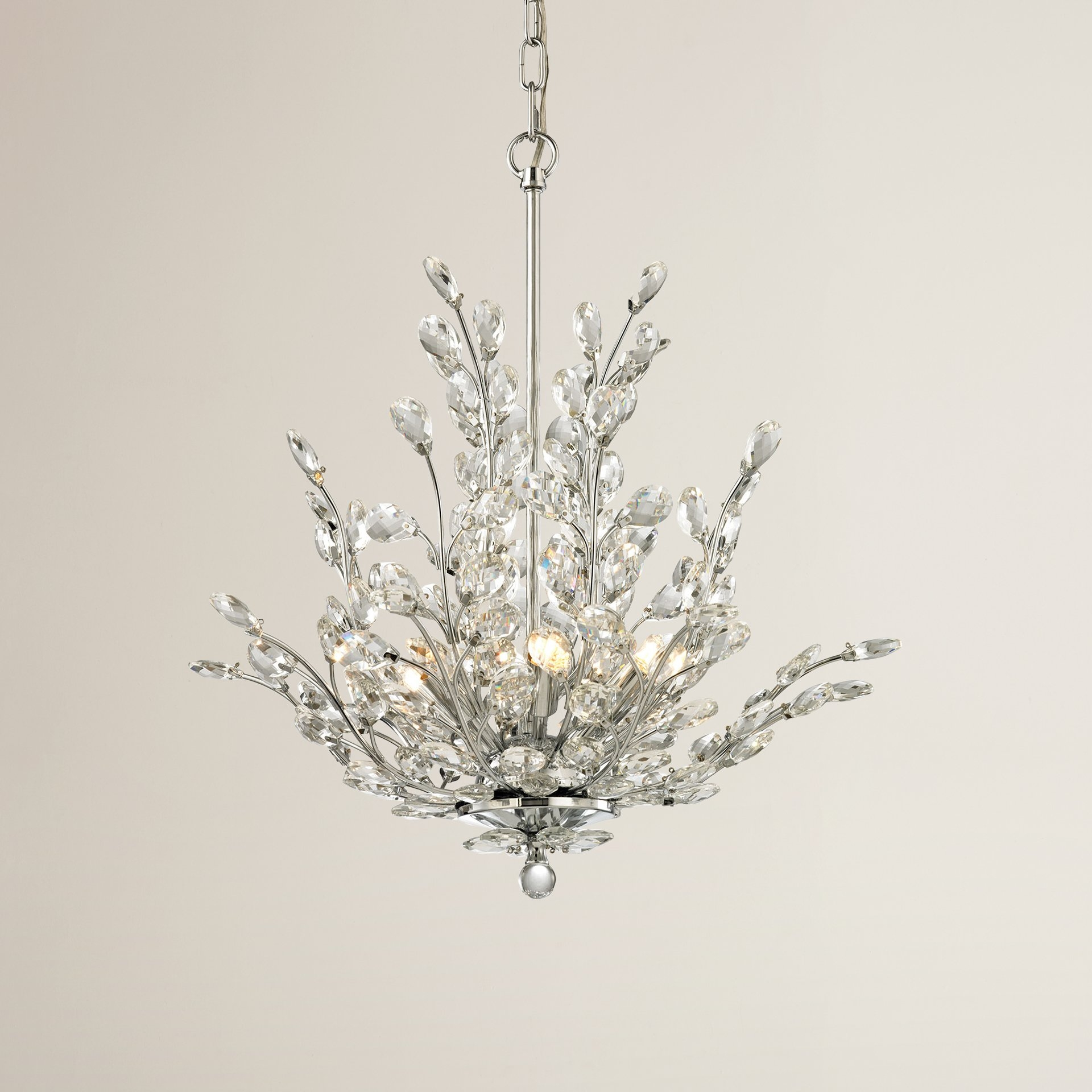 House Of Hampton Ryde 6 Light Crystal Chandelier Reviews Wayfair For Crystal Branch Chandelier (Image 8 of 15)