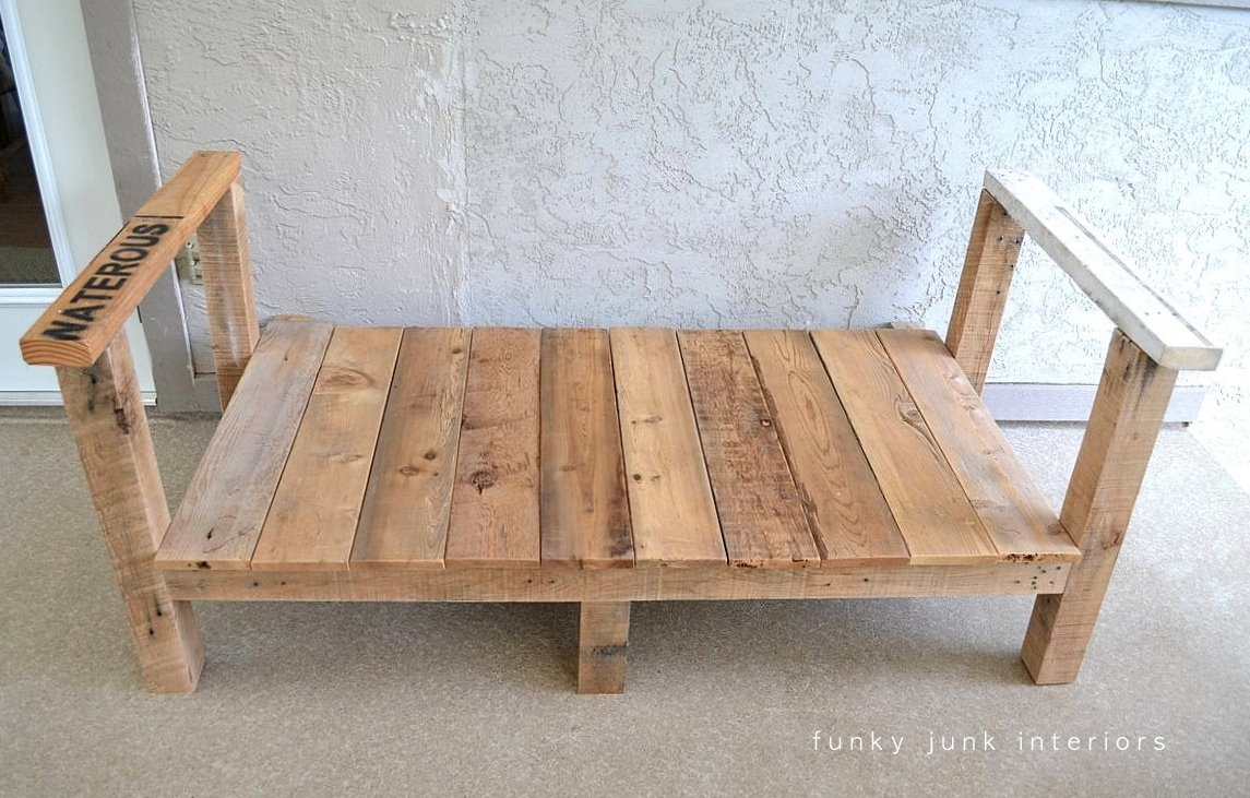 How I Built The Pallet Wood Sofa Part 2funky Junk Interiors Within Diy Sofa Frame (Image 11 of 15)