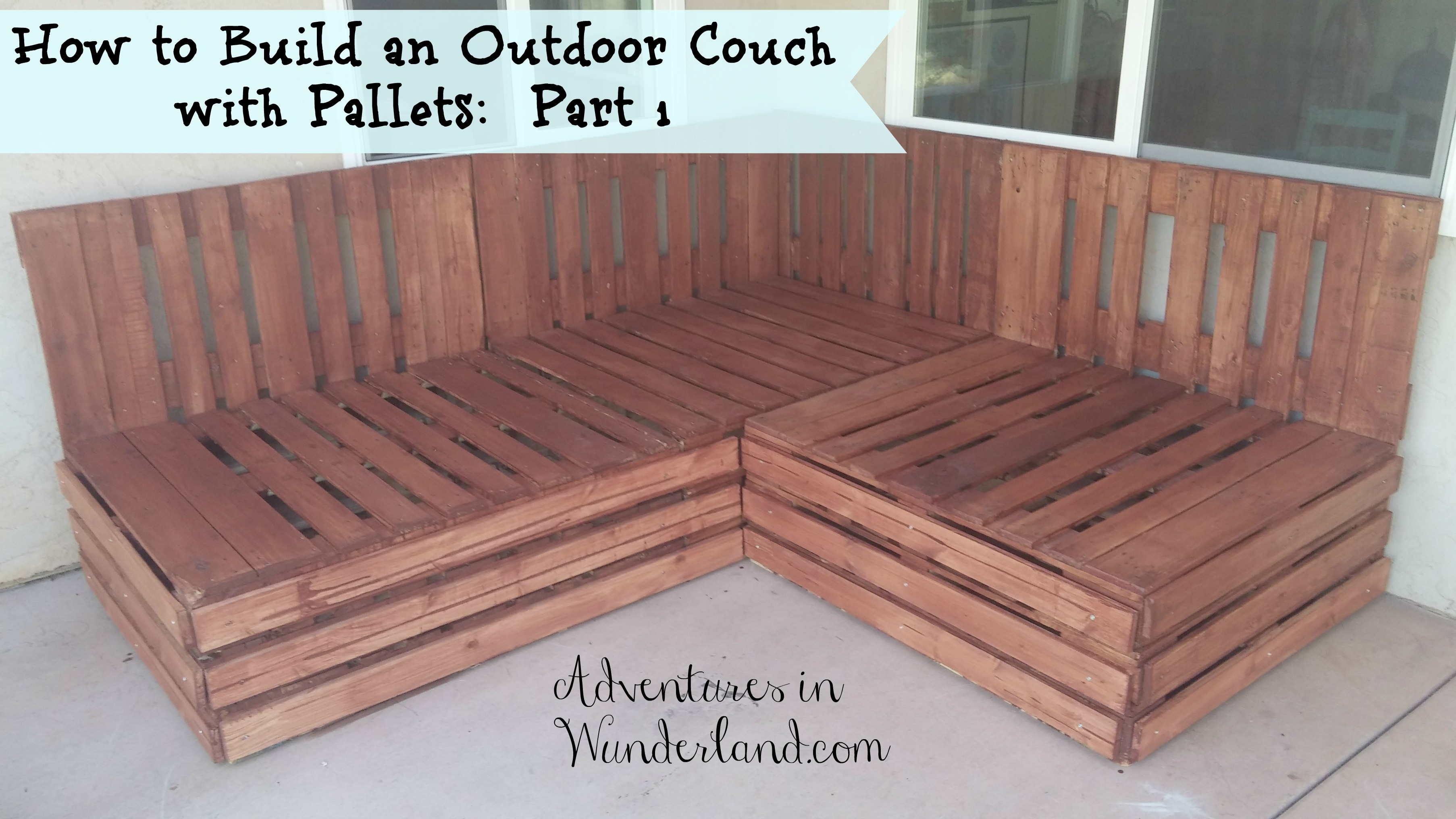 How To Build An Outdoor Couch With Pallets Part 1 Within Diy Sectional Sofa Plans (Image 13 of 15)