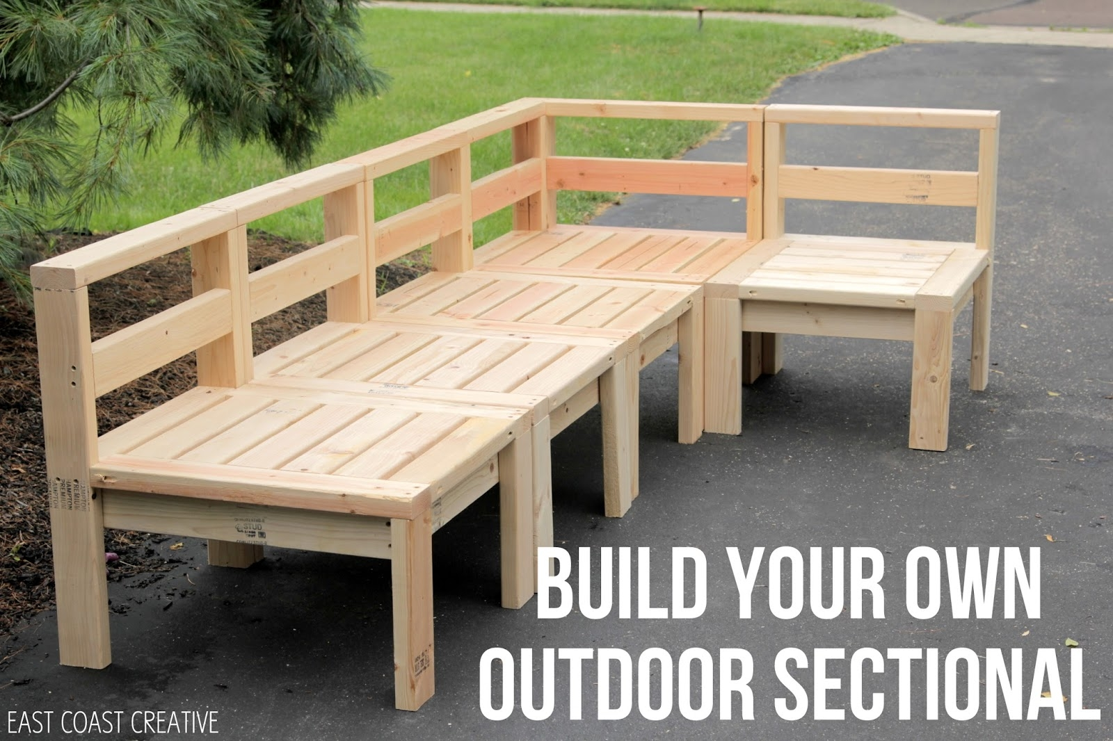 How To Build An Outdoor Sectional Knock It Off East Coast Pertaining To Diy Sectional Sofa Plans (Image 14 of 15)