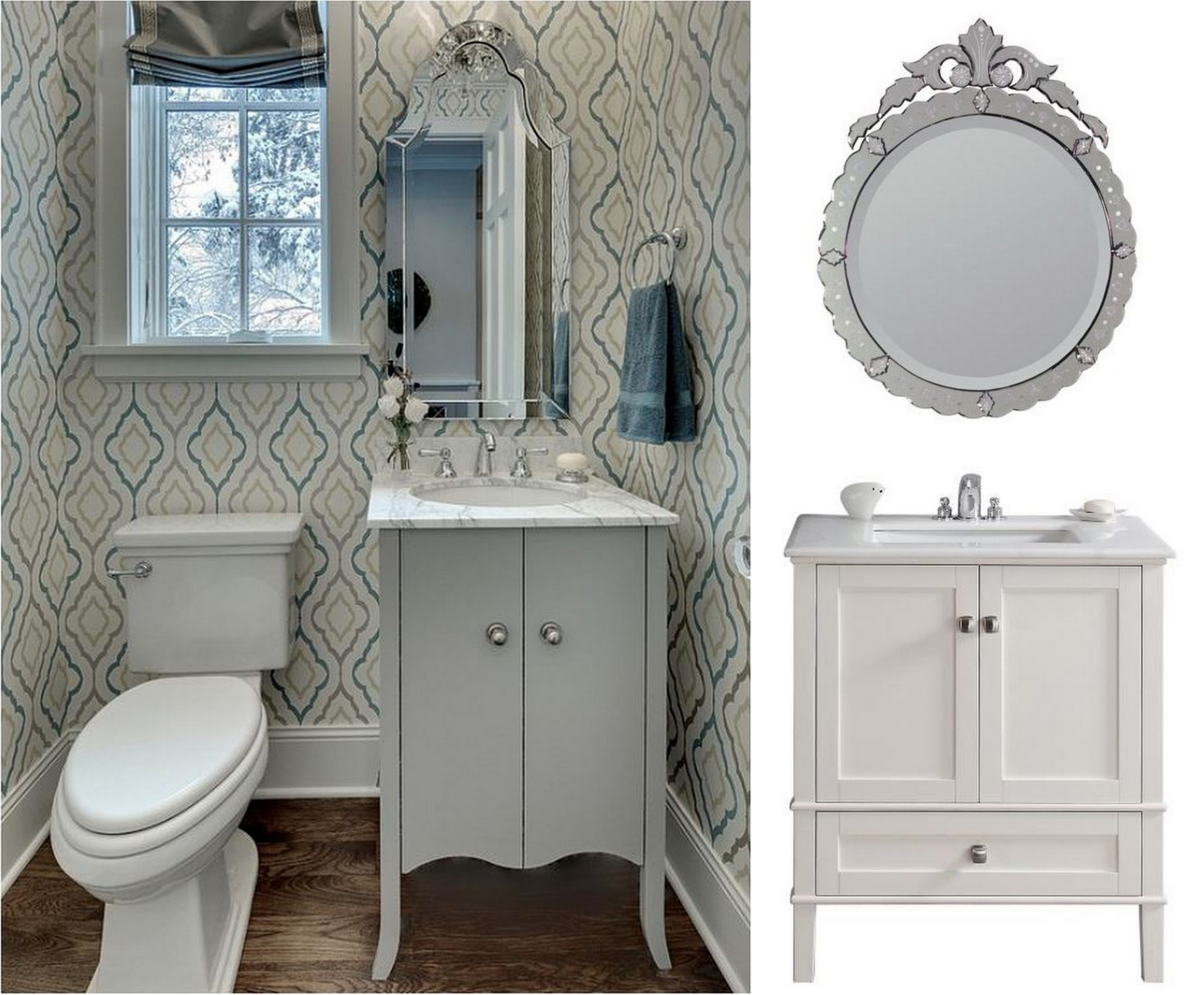 How To Decorate A Bathroom With Appeal Home Decorating Blog Inside Venetian Mirror Bathroom (Image 9 of 15)