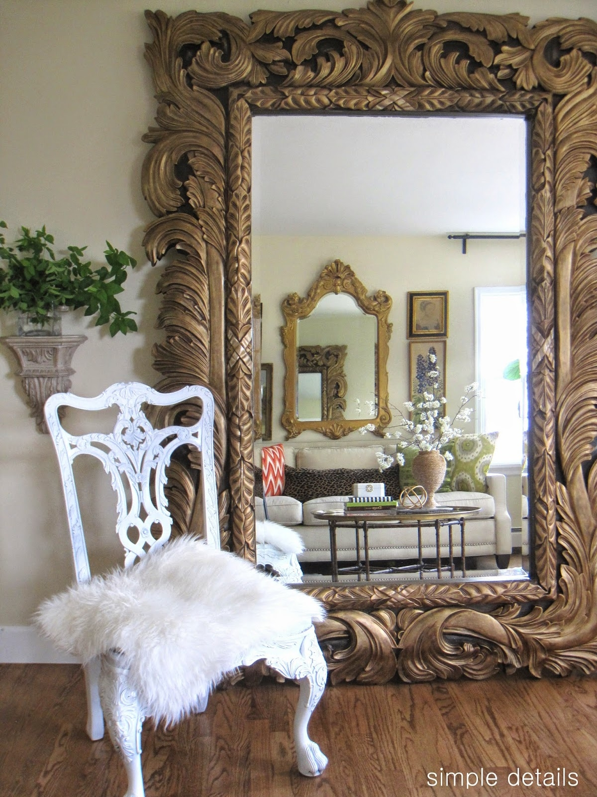 How To Get The Open Concept Look Without Knocking Down Any Walls Throughout French Floor Mirrors (Image 11 of 15)