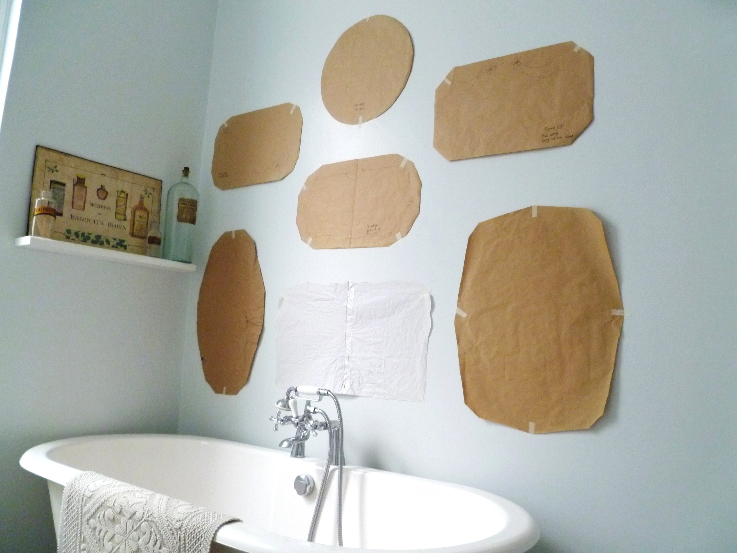 How To Hang A Display Of Vintage Mirrors Decorators Notebook Blog With Vintage Frameless Mirrors (Image 8 of 15)