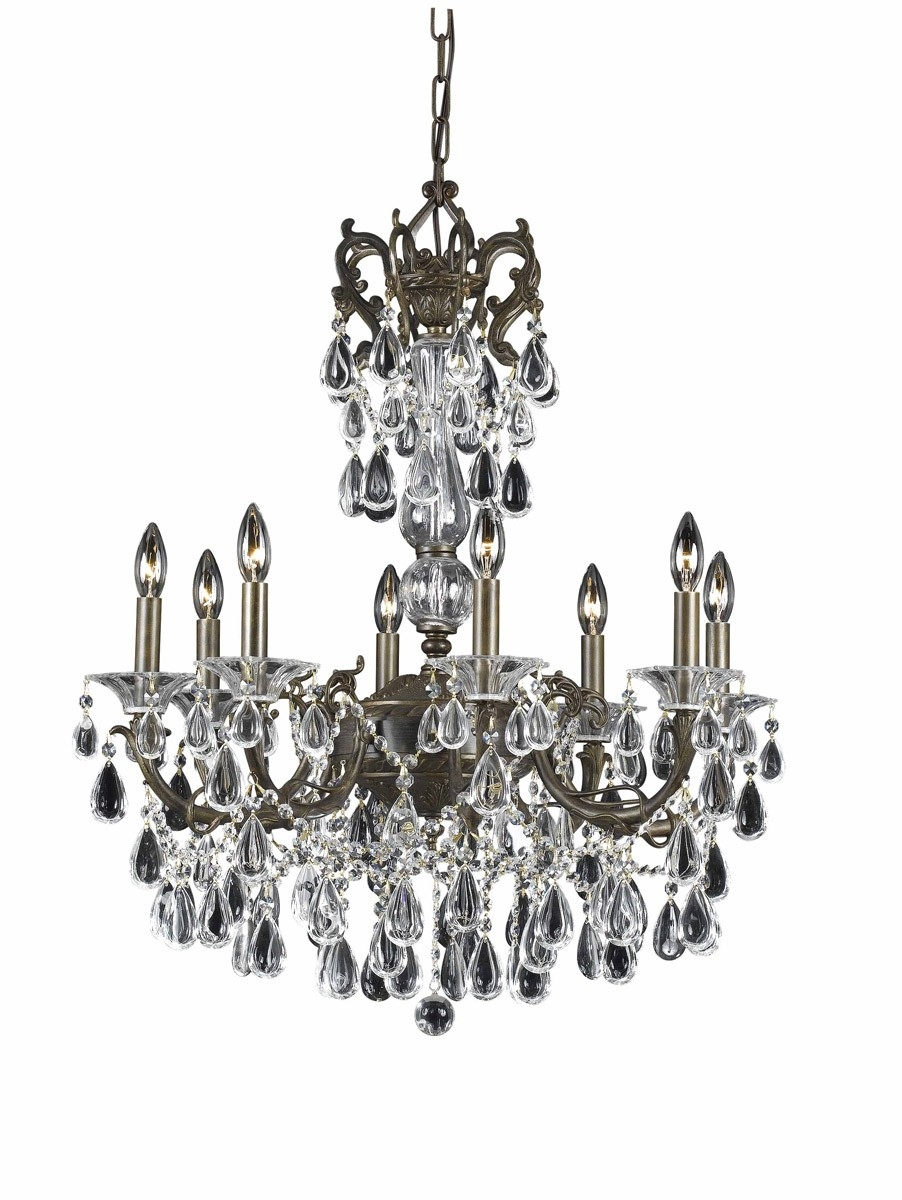 How To Install Crystal Chandeliers Blog Inside Bronze And Crystal Chandeliers (Image 9 of 15)