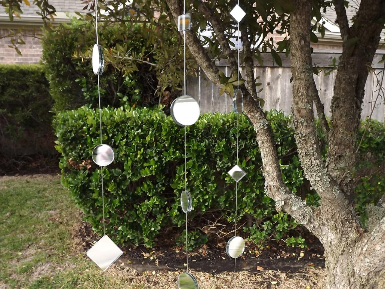 How To Make A Mirror Garland For The Garden Hgtv Regarding Outside Garden Mirrors (View 7 of 14)