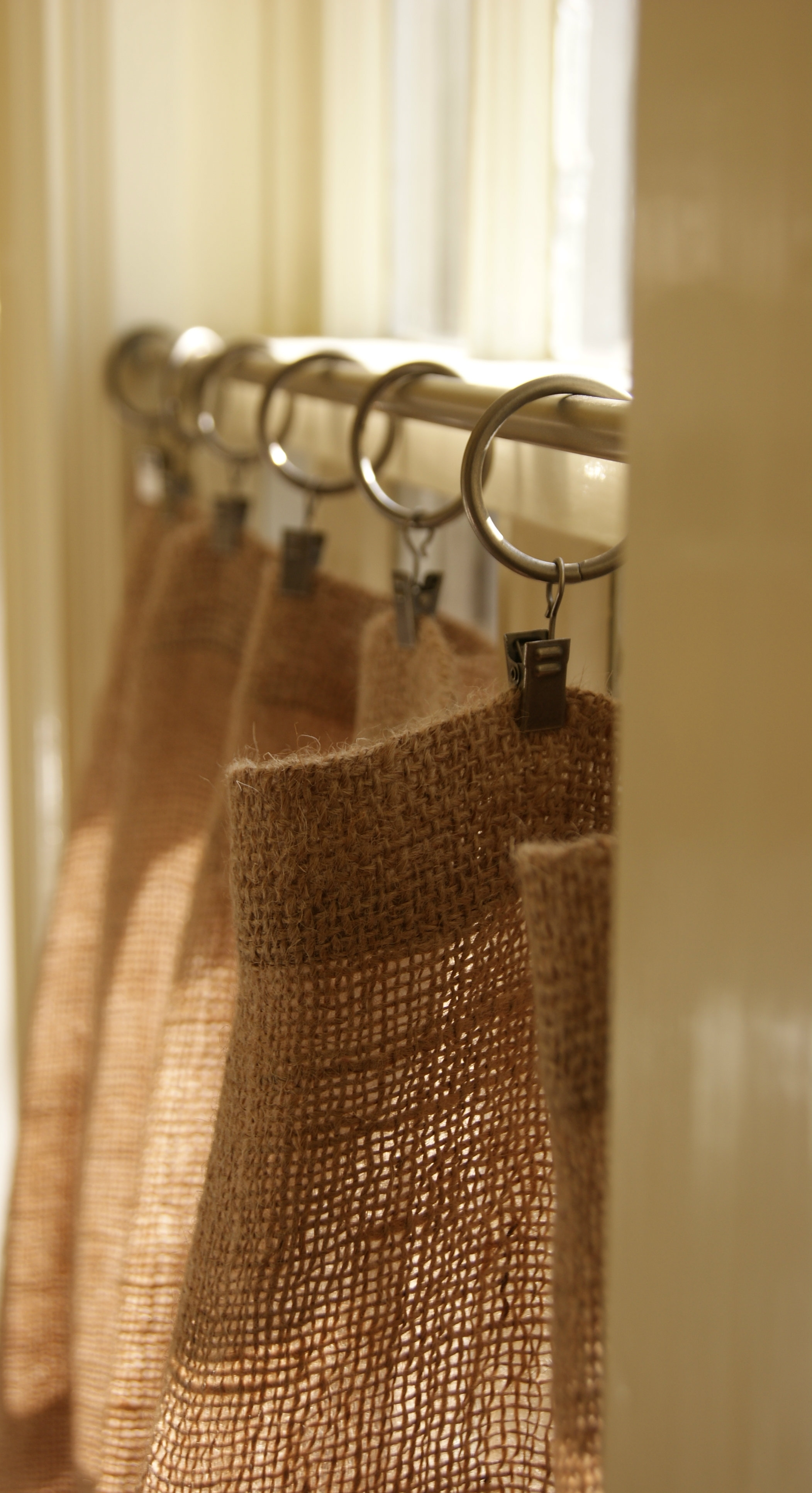 How To Make Burlap Cafe Curtains Guest Post The Prairie Homestead In Hessian Curtains (Image 13 of 15)