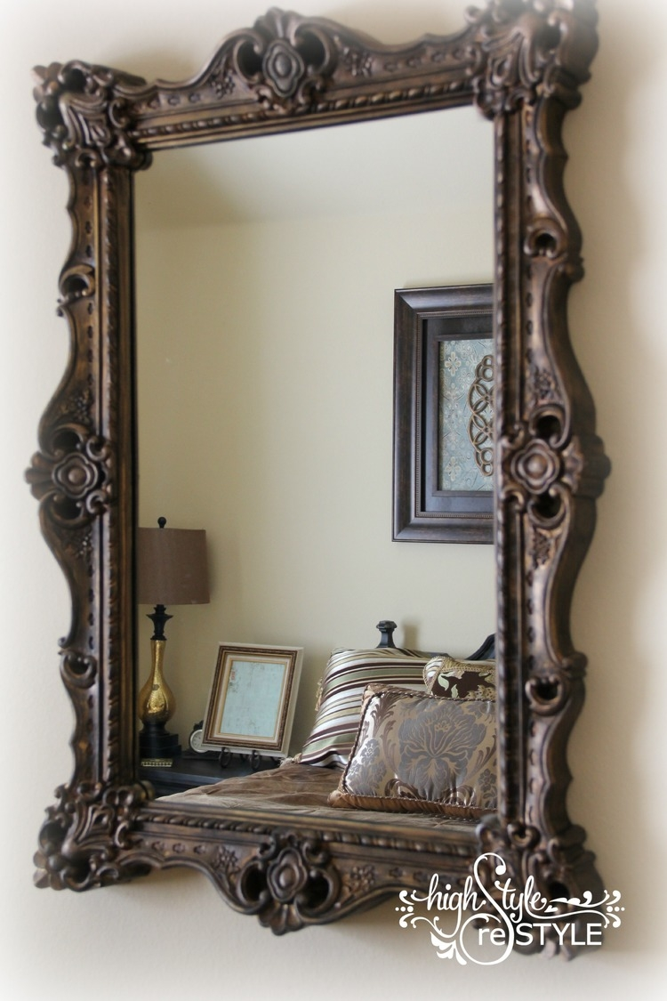 How To Update A Mirror With Paint Intended For Old Style Mirror (Image 8 of 15)