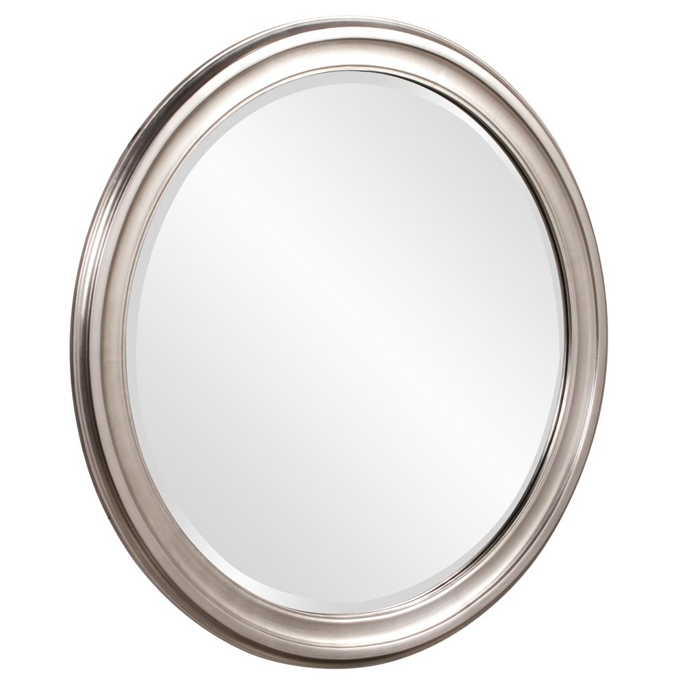 Howard Elliott George Nickel Round Mirror Beyond Stores Regarding Round Silver Mirror (Image 6 of 15)