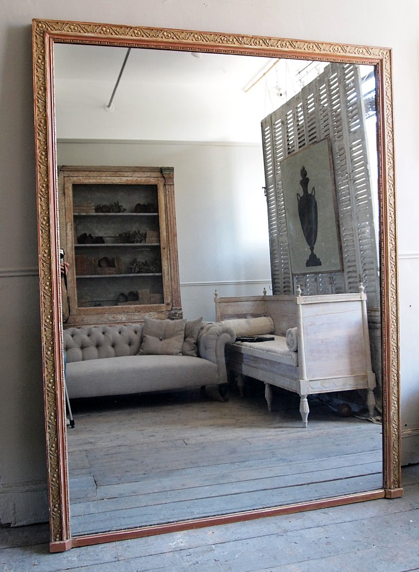 Huge Antique Mirror Puckhaber Decorative Antiques Specialists Throughout Huge Antique Mirror (Image 12 of 15)