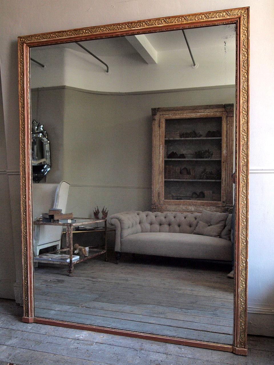 Featured Image of Huge Antique Mirror