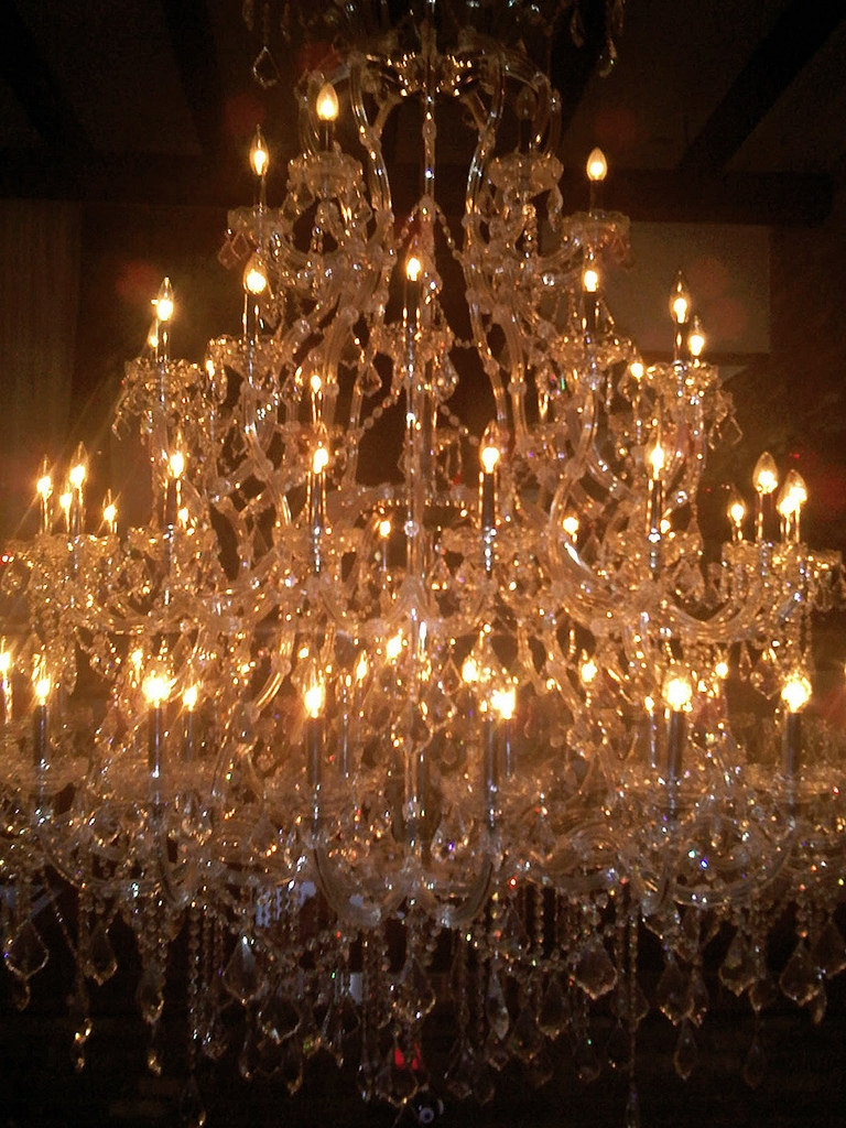 Huge Crystal Chandelier I Meant To Photograph From Below Flickr Pertaining To Huge Crystal Chandelier (Image 9 of 15)